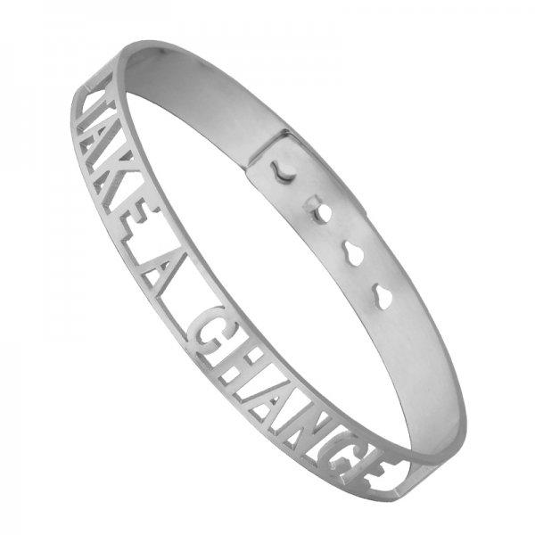 armband Take a chance zilver musthave bracelet tekst