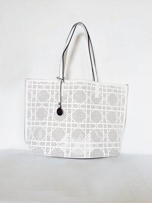 Tas summer wit witte geperforeerde tas binnen tas bag in bag mooie goedkope tassen online kopen giulliano tassen shoppers