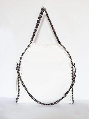 tas Croco Stella Chains wit witte croco kroko print tas kettingen musthave it bag musthave tas met kettingen online kopen goedkoop