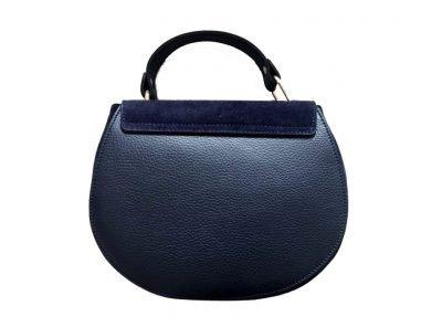 Leren-tas-Chloé-blauw blauwe navy blue-musthave-saddle-bag-leer-suede-musthave-tassen-online-kopen-goedkoop-merk achterkant