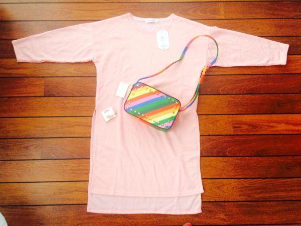 roze-lange-trui-sweater-pink-musthave-tassen-regenboog-dames-oor-clip
