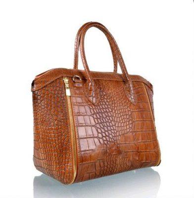 Leren-tas-Croco-Love-cognac musthave-it-bag-krokro-ritsen-leder-gouden-accessoires-tassen-musthave-tassen-online-kopen-goedkoop-Italiaans-leder