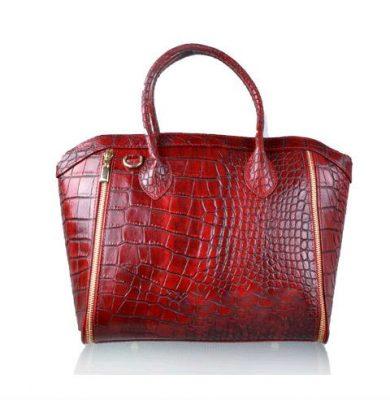 Leren-tas-Croco-Love-rood rode-musthave-it-bag-krokro-ritsen-leder-gouden-accessoires-tassen-musthave-tassen-online-kopen-goedkoop-Italiaans-leder