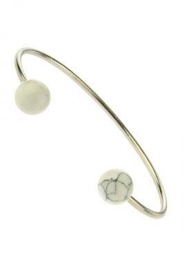 Armband marble wit zilveren armband hippe musthave armbanden bracelets online kopen