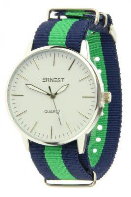Horloge strips blauw groen horloges met gekleurde armband musthave ernest horloges hippe musthave sieraden