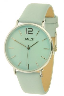 Horloge Cindy Zilver lichtblauw mint mooie luxe rvs horloges online musthaves kopen