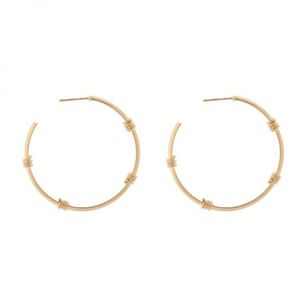 Oorbellen Fashionable Creoles grote goud gouden ronde oorbel oorhanger Earrings fashion musthave sieraden online bestellen buy