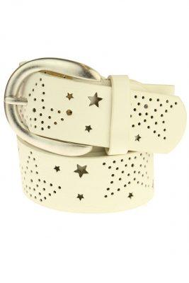 riem cut out stars wit witte musthave dames riemen online kopen bestellen mooie hippe riemen online