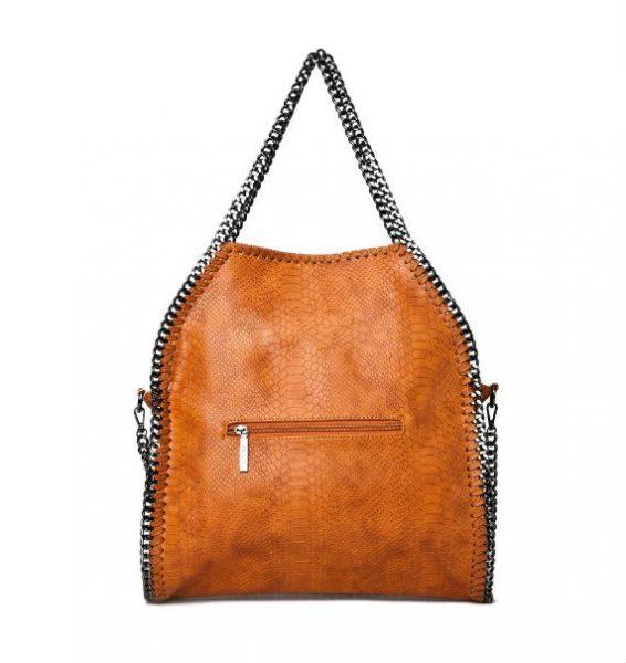tas-Croco-Stella-Chains cognac -croco-kroko-print-tas-kettingen-musthave-it-bag-musthave-tas-met-kettingen-online-kopen-goedkoop achterkant