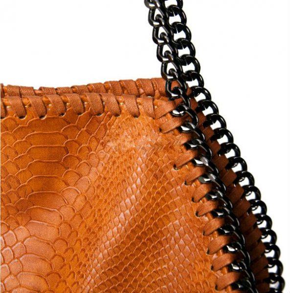 tas-Croco-Stella-Chains cognac -croco-kroko-print-tas-kettingen-musthave-it-bag-musthave-tas-met-kettingen-online-kopen-goedkoop details