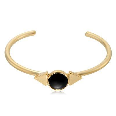 Armband Natuur steen goud gouden armbanden met zwarte steen open armband online musthave-sieraden en accessoires kopen
