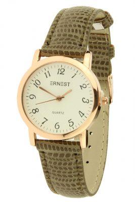 Horloge Pedra snake taupe met rose kast ernest horloges musthave watches online bestellen kopen klokjes dames horloges