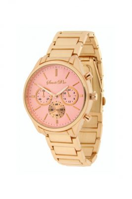 Horloge souris d'or gouden band roze pink babyroze kast musthave horloges onlne kopen bestellen