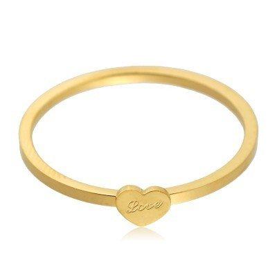 Ring love heart gouden simpele ring met love teken musthave sieraden accessoires online kopen deschoenenkast yehwang