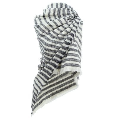 Sjaal Siberia grijs grijze gestreepte sjaals omslagdoeken winter mooie hippe sjaals online kopen bestellen