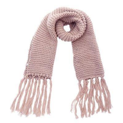 Sjaal Winter roze pink warme gebreide lange sjaal met fringe franjes online bestellen sjaals omslagdoeken