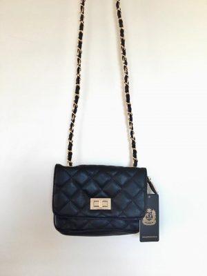 Tas Coco klein blauw blauwe dames tas stiksels goud ketting chanel look a like goedkope luxe tassen itbags