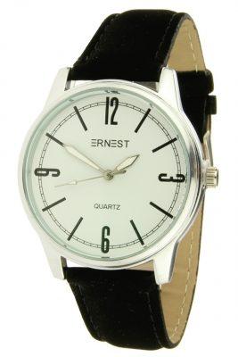 Horloge Tessa zilver zilveren horloge zwart zwarte band kast musthave horloges onlne kopen bestellen ernest horloges