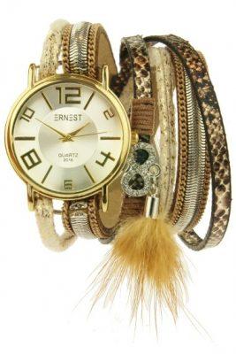 Horloge armband GOLDIEN beige nude creme horloge verschillende armbanden kwastjes ernest horloge musthaves