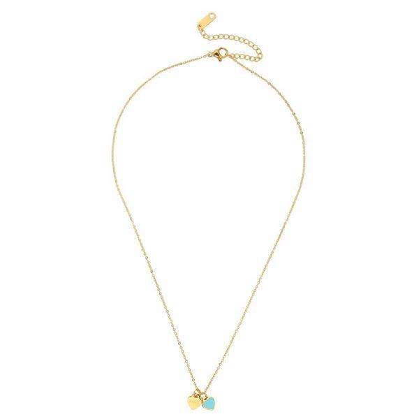 ketting-turquoise-love-goude-ketting-met-2-hartjes-turquoise-en-love-bedels-musthave-kettingen-online-bestellen-kopen