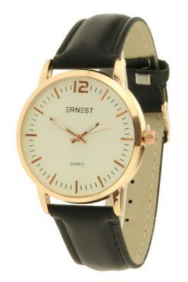 horloge-sylvia-zwart-zwarte-band-gouden-klokkast-ernest-zachte-dames-horloges-online-kopen