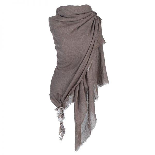 sjaal-boho-dreamcatcher-bruin-bruine-katoenen-sjaal-omslagdoeken-met-dreamcatcher-bohemian-musthave-ibiza-online