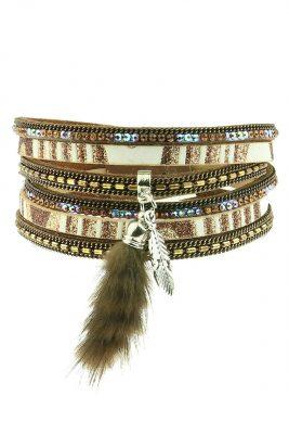 wikkel-armband-feather-pluche-bruin-bruine-choco-brede-wikkelarmbanden-armbanden-staart-pluche-accessoires