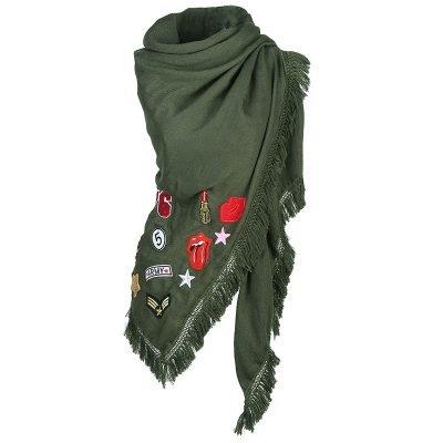 sjaal-patches-groen groene grote dames sjaals-omslagdoeken-hippe-musthave-patches-dames-winter-online