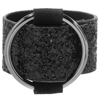 armband-sparkle-zwart-zwarte-brede-armband-glitters-musthave-dames-fashion-glam-bestellen