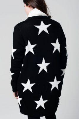 zwart-vest-stars-zwarte-lange-vesten-cardigans-lange-mouwen-dames-mode-witte-sterren-print-online-achterkant