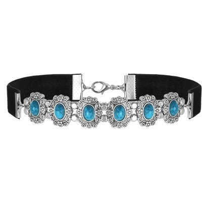 zwarte-choker-duchess-turquoise-stenen-velvet-chokers-kettingen-zilveren-zwart-sieraden-fashion-online-bestellen