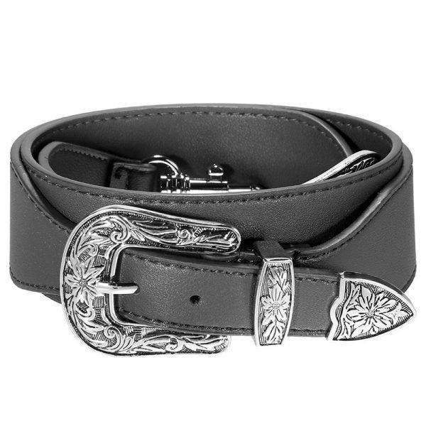 Losse Tassen hengsel Cowboy zwart zwart zilveren accesoires losse verstelbare tassen hegsel dames accesoires