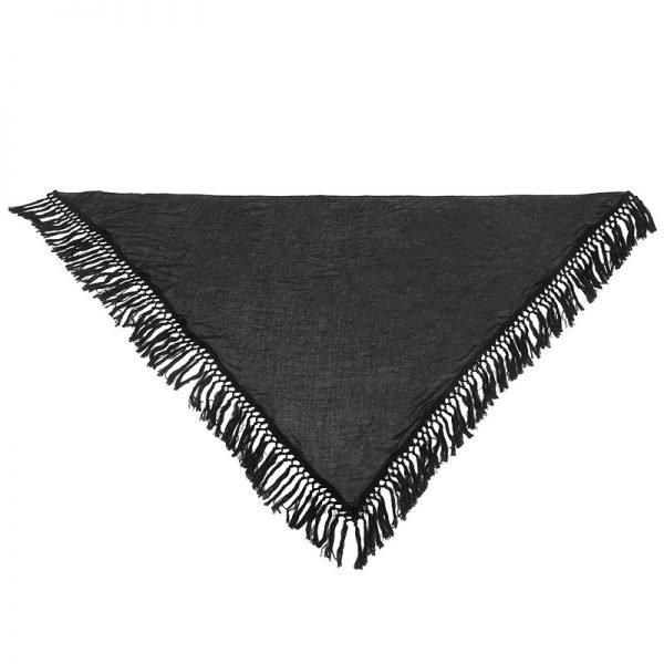 Sjaal Autumn fringe zwart zwarte driehoek sjaals grote omslagdoeken dames accessoires online kopen nu