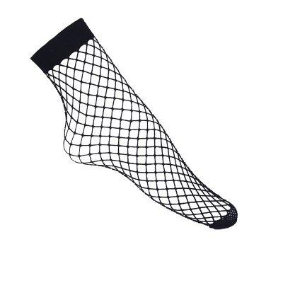Visnet-sokken zwart zwarte panty-sokjes--achter-fishnet-socks-panty-musthaves-Vrouw-Mesh-Kant-400x399