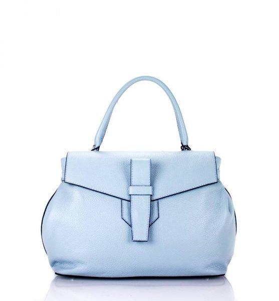 Leren Tas Majo baby blauw blauwe lederen dames handtassen zacht leer luxe tassen vrouwen online leer bestellen goedkoop