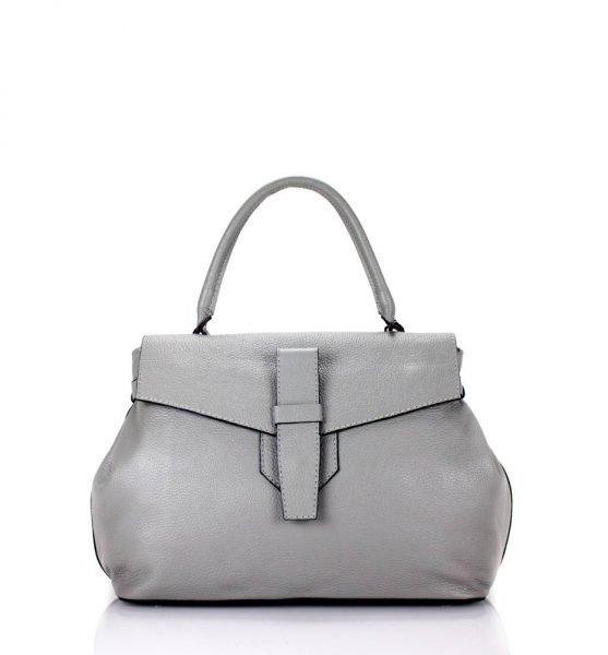 Leren Tas Majo grijs grijze lederen dames handtassen zacht leer luxe tassen vrouwen online leer bestellen goedkoop