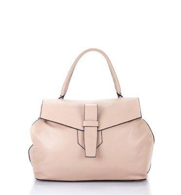 Leren Tas Majo licht roze pink lederen dames handtassen zacht leer luxe tassen vrouwen online leer bestellen goedkoop