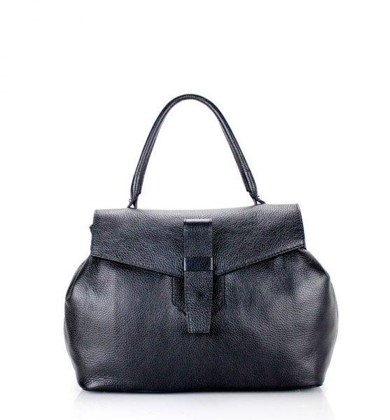 Leren Tas Majo zwart zwarte lederen dames handtassen zacht leer luxe tassen vrouwen online leer bestellen goedkoop