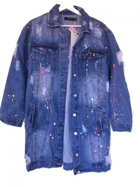 Spijkerjas paint Spijkerjas-oversized-denim-jas-jacket-retro-spijkerjassen-distressed-look-musthaves-dames-kleding-online verf spetters