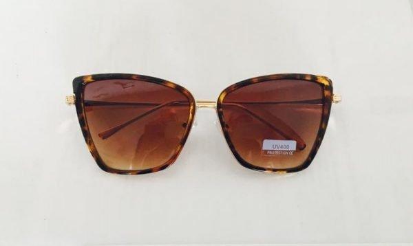 Zonnebril Ava bruin bruine tijgerprint goedkope look a like zonnebrillen dames online musthave hippe fashion brillen online plastic