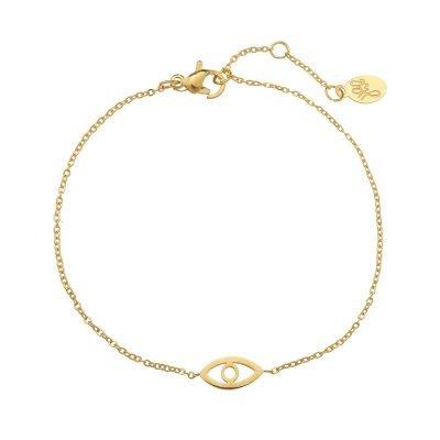 Armband Third eye goud gouden rvs stainlessteel armbanden bracelets oog nazar bedel dames kettingen sieraden online