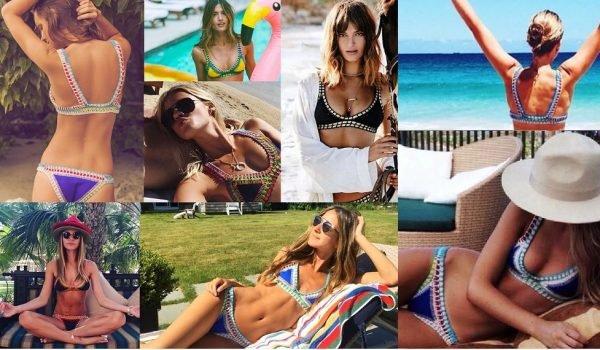 Bali Boho bikini dames bikinis kleurrijke 2 swimwear gekleurde bohemian bikinis