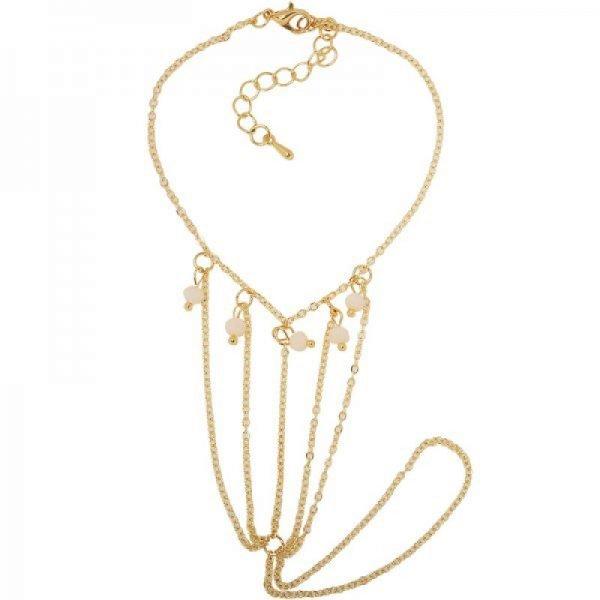 Enkelbandje Ness goud gouden enkel en teen bandjes met gekleurde kraaltjes dames enkelbandjes