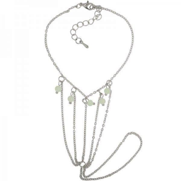 Enkelbandje Ness zilveren enkel en teen bandjes met gekleurde kraaltjes dames enkelbandjes