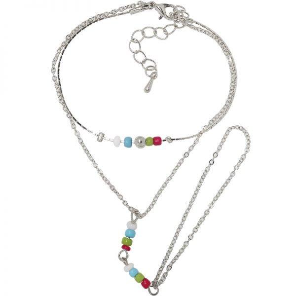 Enkelbandje zilver beads zilveren enkel teen bandjes met gekleurde kraaltjes dames enkelbandjes