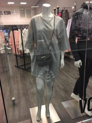 Jurk Sammy Grijs grijze half lange jurken sweaterdress dames kleding musthaves online kopen
