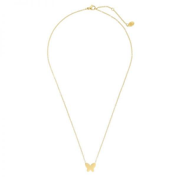 Ketting Vlinder goud gouden rvs stainlessteel ketting butterfly bedel dames kettingen sieraden online