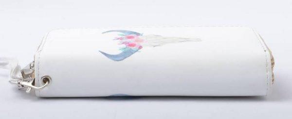 Portemonnee Bull wit witte Portemonnee met buffelkop pastelkleuren dames Portemonnees online
