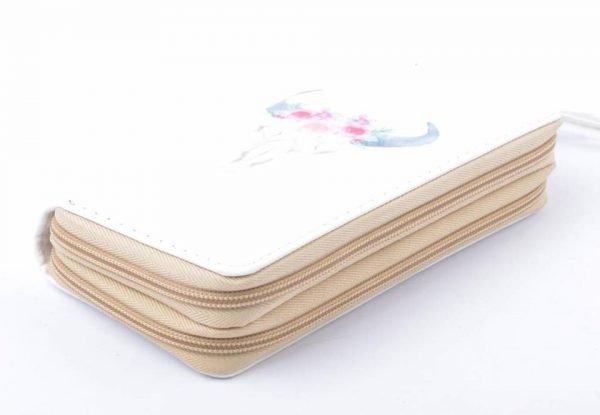 Portemonnee Bull wit witte Portemonnee met buffelkop pastelkleuren dames Portemonnees online accessoires