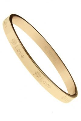 RVS Armband Lucky Love rose gouden rvs armbanden met love tekst valentijn cadeau stainless steel